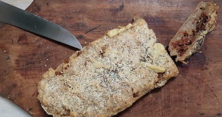Pão paleo com chouriço caseiro